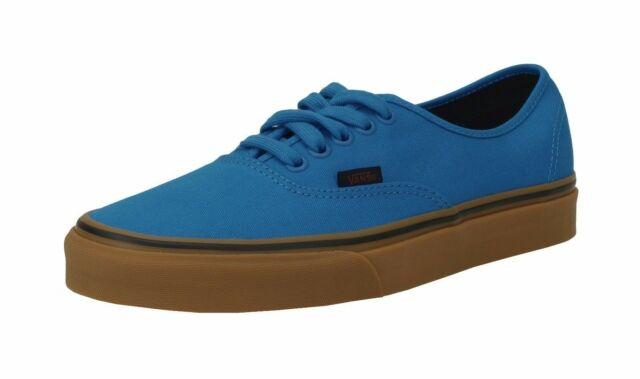 111cf63cbcdaad Vans Unisex Women Men Shoes Authentic Gum Imperial Blue Black Canvas