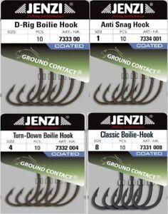 Jenzi Ground Contact Karpfenhaken, Anti-Snag, Turn Down,Classic, D-Rig