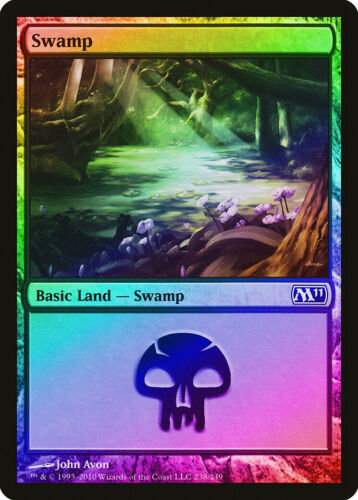M11 PLD-SP Basic Land MAGIC MTG CARD ABUGames 238 FOIL Magic 2011 Swamp