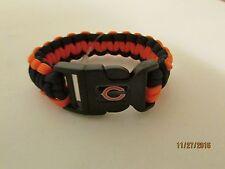 Chicago Bears  Bracelet, Black, Blue And Orange.
