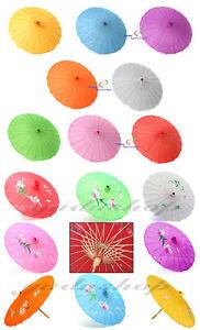 Details zu Asia Schirm Dekoschirm Fengshui Stoff Bambus mehr Farben