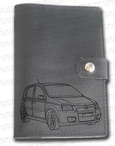 negozio online f6fed 1890c Dettagli su Portadocumenti portalibretto pelle auto Fiat Panda Libro Leather