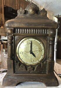 Vintage- Lanshire - Mantel Electric Clock - 1930 - 1969 Working