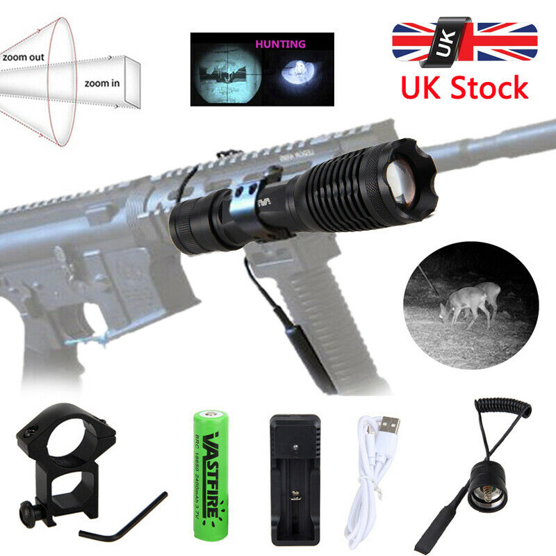 Zoomable Night Vision 850nm IR Infrared Flashlight Hunting Rifle Gun Scope Torch