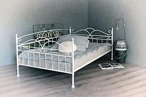 Jugendbett 140x200 metall  vintage trend sofa - bett 140x200 in weiss ecru oder schwarz inkl ...