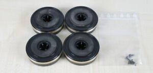 4-x-Kenwood-Hifi-Standfuesse-Durchmesser-6-0-cm-Hoehe-1-8-cm-inkl-4-Schrauben
