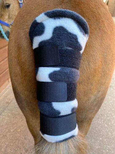 Cow Print LARGE PONY Fleece Tail Guard
