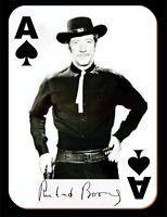 Richard Boone As Paladin Fridge Magnet. 4 X 5. Ace Of Spades. Free Shipping.
