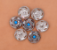 10X-Bohemian-3D-Flower-Turquoise-Conchos-For-Leather-Craft-Keychian-Wallet-Decor miniatuur 59