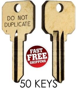 Schlage SC1 DND DO NOT DUPLICATE Key Blanks - 50 Keys