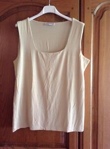 Grey-amp-Osbourn-Beige-Vest-Double-Layer-Front-Square-Neck-No-Size-Stated-But-50cm