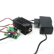 405nm 50mw Bule/Violet Focus Line Laser Diode Module +12V Adapter + Driver TTL