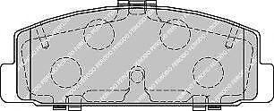 Ferodo FDB1721 Rear Axle Premier Car Brake Pad Set Replaces GGYM2643Z