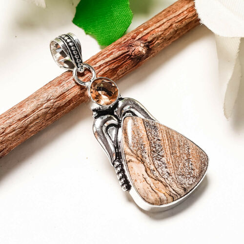 New Year !!!Free Shipping mix-Stone 925 Silver Gemstone Jewelry Pendant
