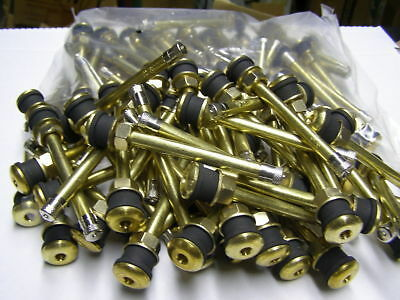 "STEEL wheels 22.5 24.5 FS 25pk TR574 5/"" Brass Truck tire valve stems ALUM"