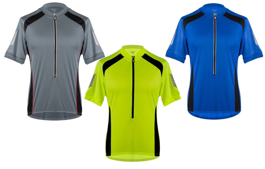 Tall Men's Biking Elite Coolmax Cycling Jersey with High Visible 3M Reflective