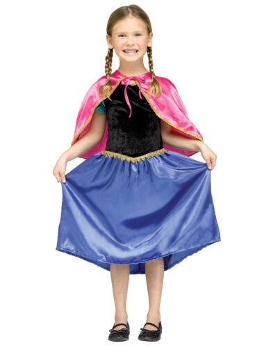 Ice Princess Movie Gown With Pink Cape Toddler Girls Costume