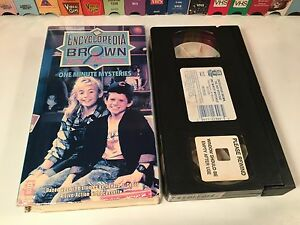 Encyclopedia-Brown-The-Boy-Detective-One-Minute-Mysteries-VHS-1989-Comedy-80-039-s
