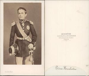 Disderi-Prince-Humbert-I-de-Savoie-Umberto-I-di-Savoia-vintage-CDV-albumen-car