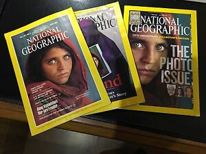 NATIONAL-GEOGRAPHIC-JUNE-1985-APRIL-2002-OCTOBER-2013-AFGHAN-REFUGEE