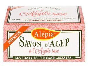 Lot-de-4-savons-d-039-Alep-Premium-a-l-039-argile-rose