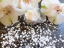 Nail Art Chunky *FaiRy* Xmas Frozen Ice White Hexagon Glitter Spangles Dust Pot