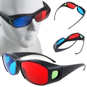 Red-Blue-3D-Glasses-Frame-For-Dimensional-Anaglyph-Movie-DVD-Game