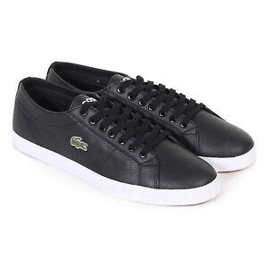 Damen Schwarz Lacoste Größe verschiedene Sneakers Leder Riberac 14ddpq