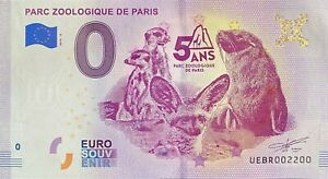 BILLET-0-EURO-PARC-ZOOLOGIQUE-DE-PARIS-FRANCE-2019-NUMERO-2200