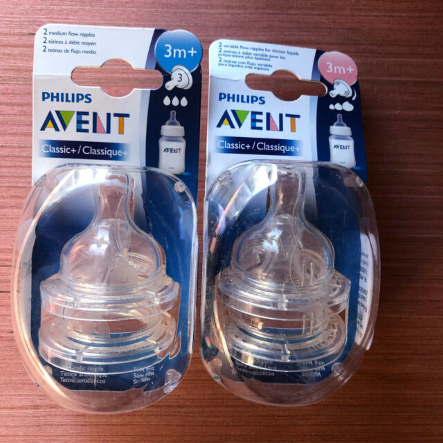Baby Bpa Free Nick 2 Packs Of Phillips Avent Fast Flow Baby Bottle Nipples 6m