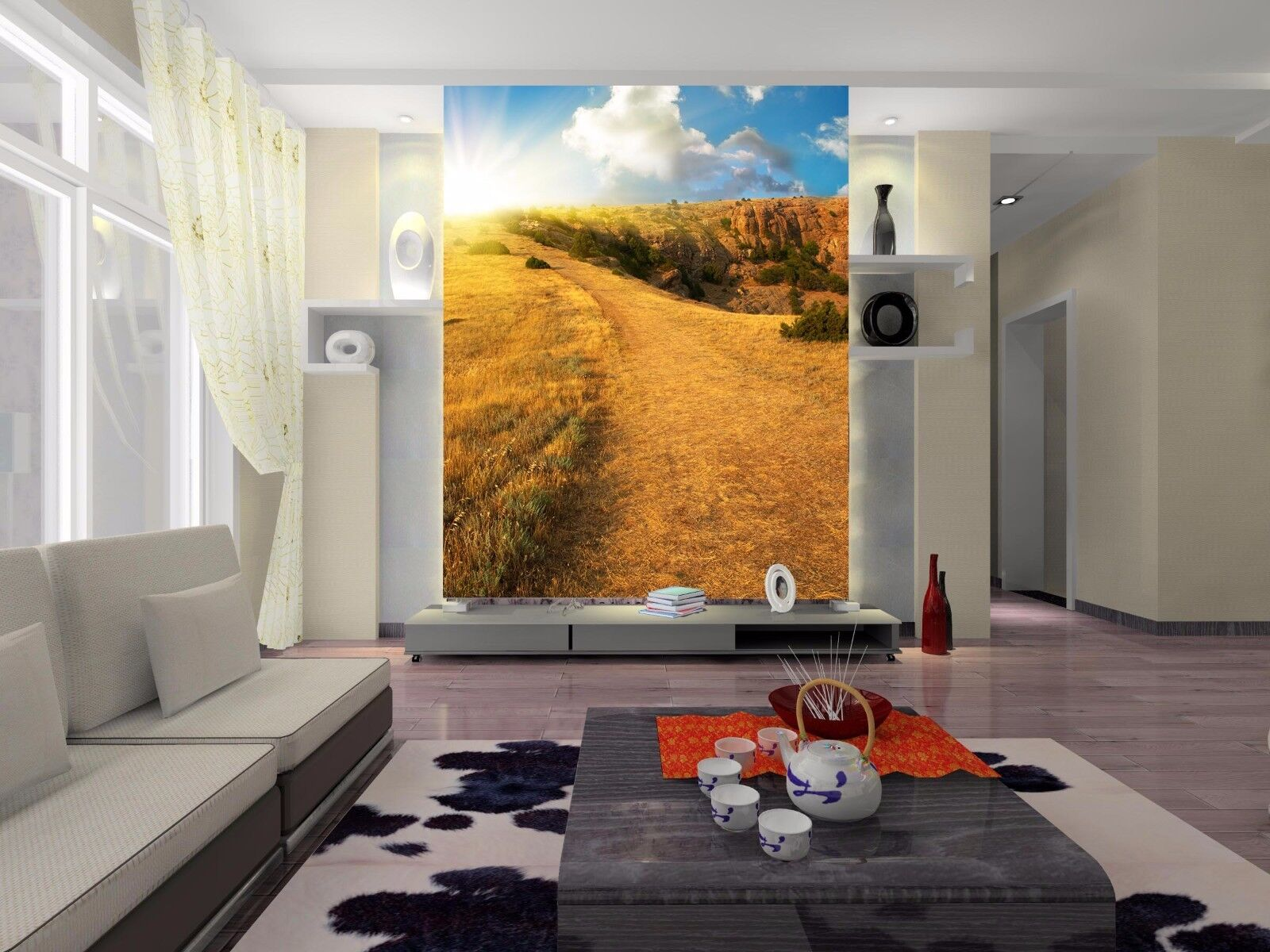 3D Highland Scenery 085 Wall Paper Wall Print Decal Wall Deco Wall Indoor Murals