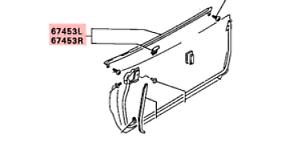 90-99 Mitsubishi 3000GT OEM interior door handle STOCK black