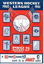 1961 (Feb.14) WHL Hockey Program, Seattle Totems @ Vancouver Canucks ~ Good