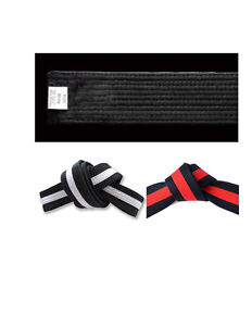 White Belt with Color Stripe Double Wrap Siz Karate//Taekwondo//Judo//Kendo//Hapkido