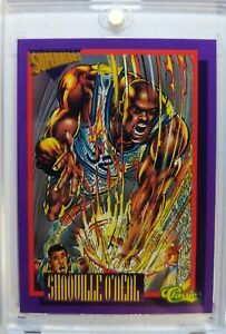 1992-92-93-CLASSIC-SUPERHEROS-SHAQUILLE-ONEAL-ROOKIE-RC-SS1-Cartoon-Insert