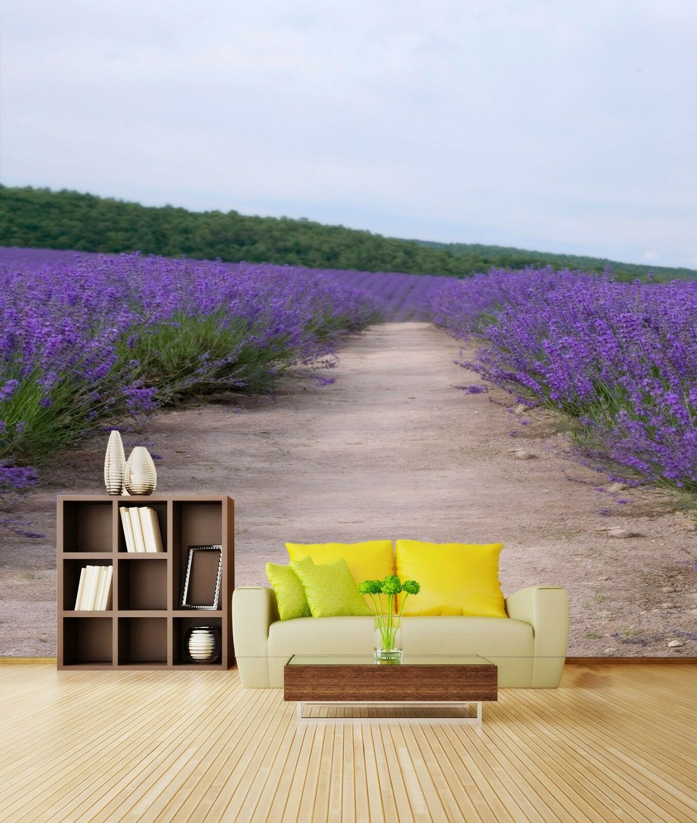 3D Lavender Path 563 Wall Paper Wall Print Decal Wall Deco Indoor Mural Summer