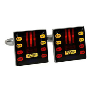 Retro-1980s-Car-Voice-Lights-Cufflinks-Gift-Boxed-NEW