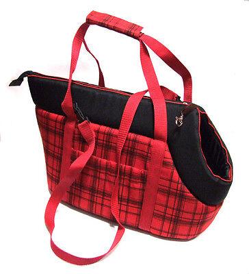 TRENDY TASCHE Hundetragetasche,Transport-Tasche RED KARO dogszone Größen Wahl