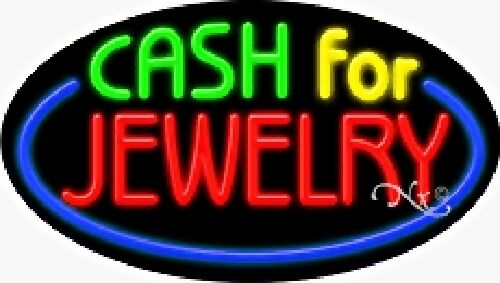 FLASHING CASH FOR JEWELRY HANDCRAFTED REAL GLASSTUBE FLASHING NEON SIGN