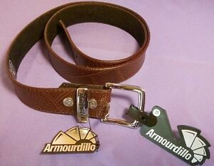 Leather-Belt-Armourdillo-Brown-Dust-Storm-Action-Medium-or-XL-RETAIL-35-NEW