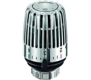 Heimeier-Thermostatkopf-K6000-Chrom-Thermostatfuehler-Thermostatventil-verchromt