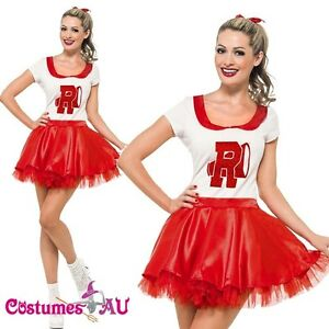 7665eb03fa7 Image is loading Grease-Sandy-Costume-Licensed-50s-Rydell-High-Cheerleader-