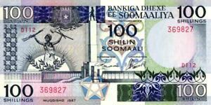 100% Wahr 01 Somalia P35b 100 Shillings 1987 Unc Reisen