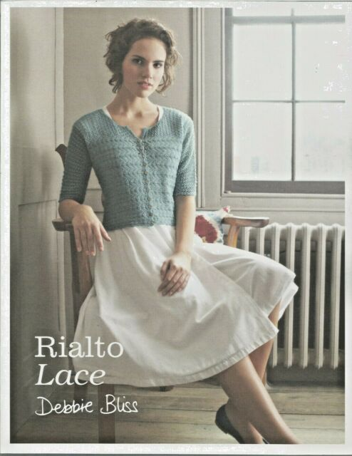 Knitting Pattern Book Debbie Bliss Rialto Lace Sweaters Shawls