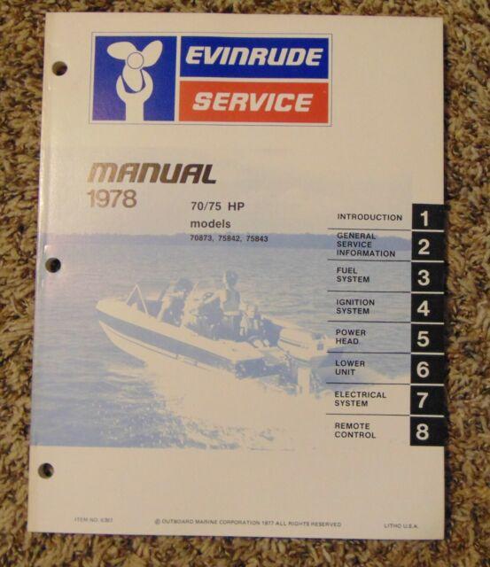 1978 Evinrude Service Repair Manual