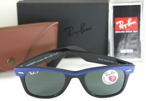 ab4d81da86d NEW AUTHENTIC RAY BAN RB 2143 112458 Black   Blue Polarized ...