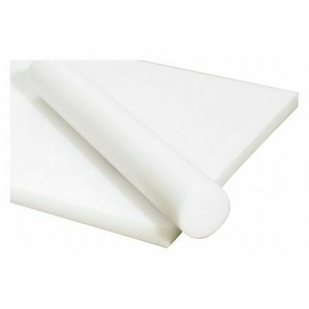 """Polymershapes 1Nmw3 White Acetal Copolymer Rod Stock 1 Ft L 1-5//8/"""" Dia."""