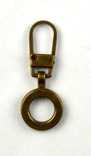 Reissverschluss Zipper Zupfer altmessing Ring 388  Fashion-Zipper Ersatz-Zipper
