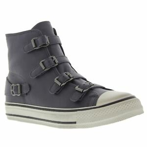 Ash-Virgin-Graphite-Womens-High-Top-Leather-Trainers