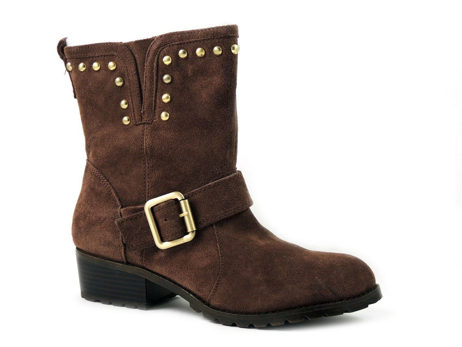 INC International Concepts Women's Henry Boots Nutmeg Suede Size 9 M